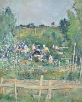 Paul Cezanne-Vue Dauvers-Sur-Oise—La Barriere-1873