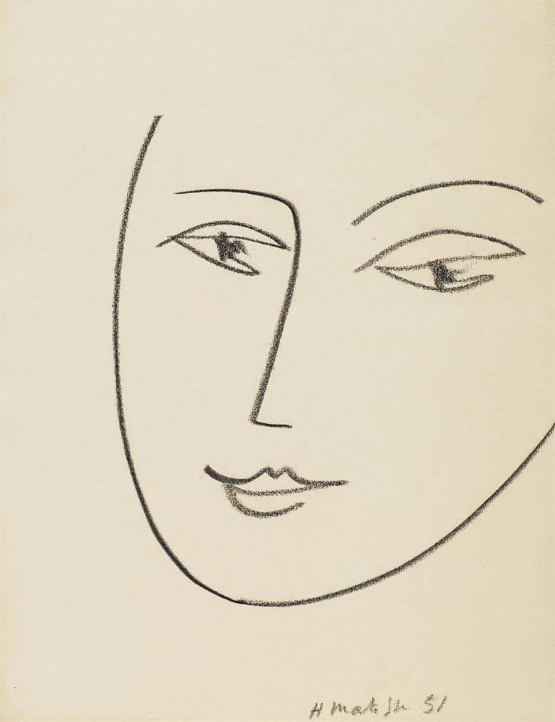 Henri Matisse-Tete De Femme-1951