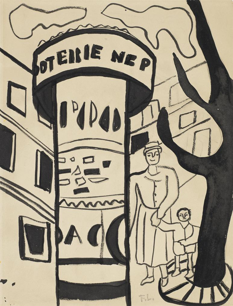 Fernand Leger-La Ville (Etude)-1955