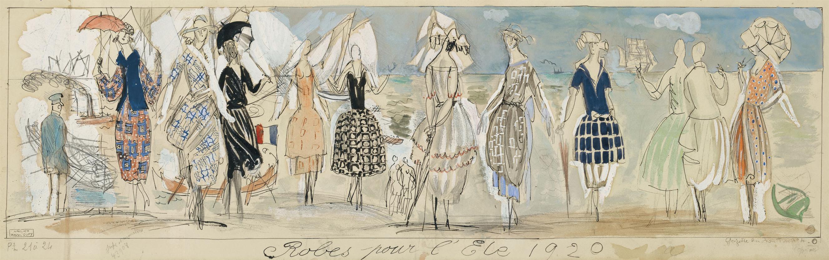Raoul Dufy-Robes Pour Lete-1920