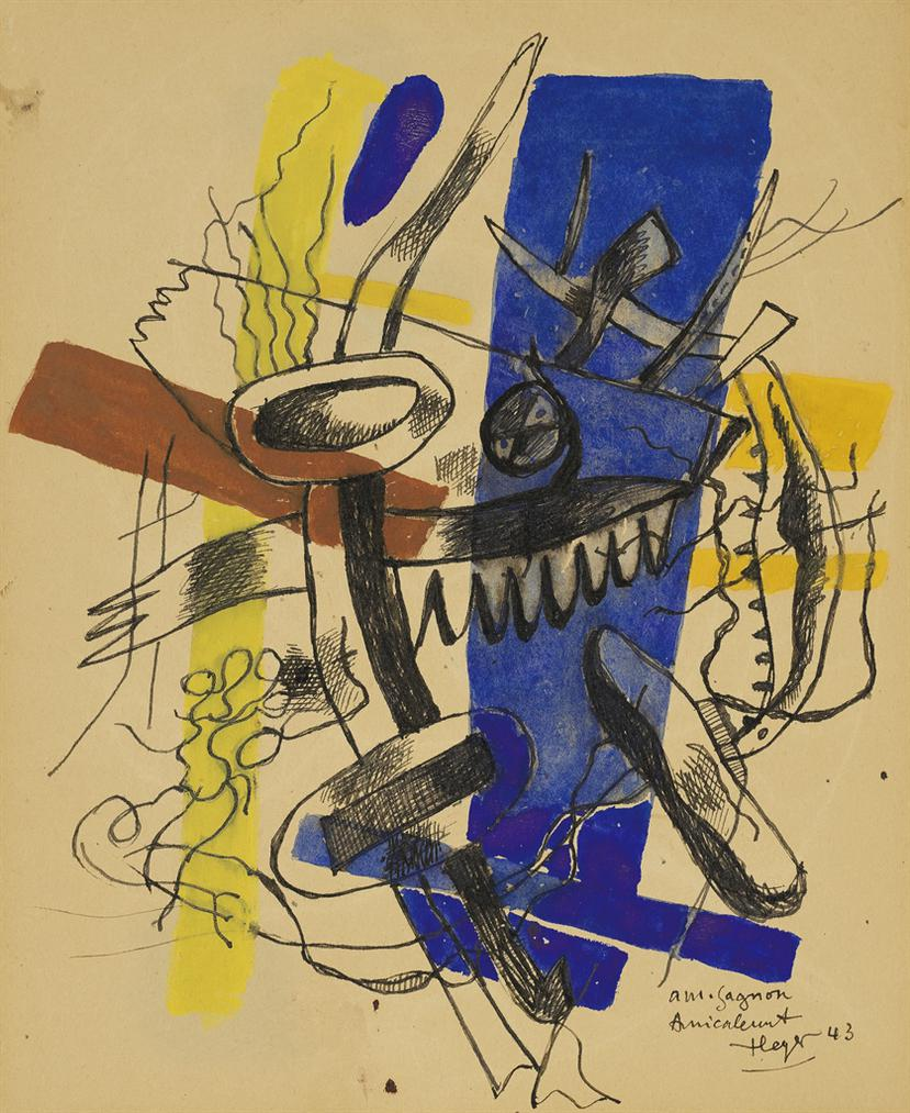 Fernand Leger-Composition (Recto And Verso)-1943