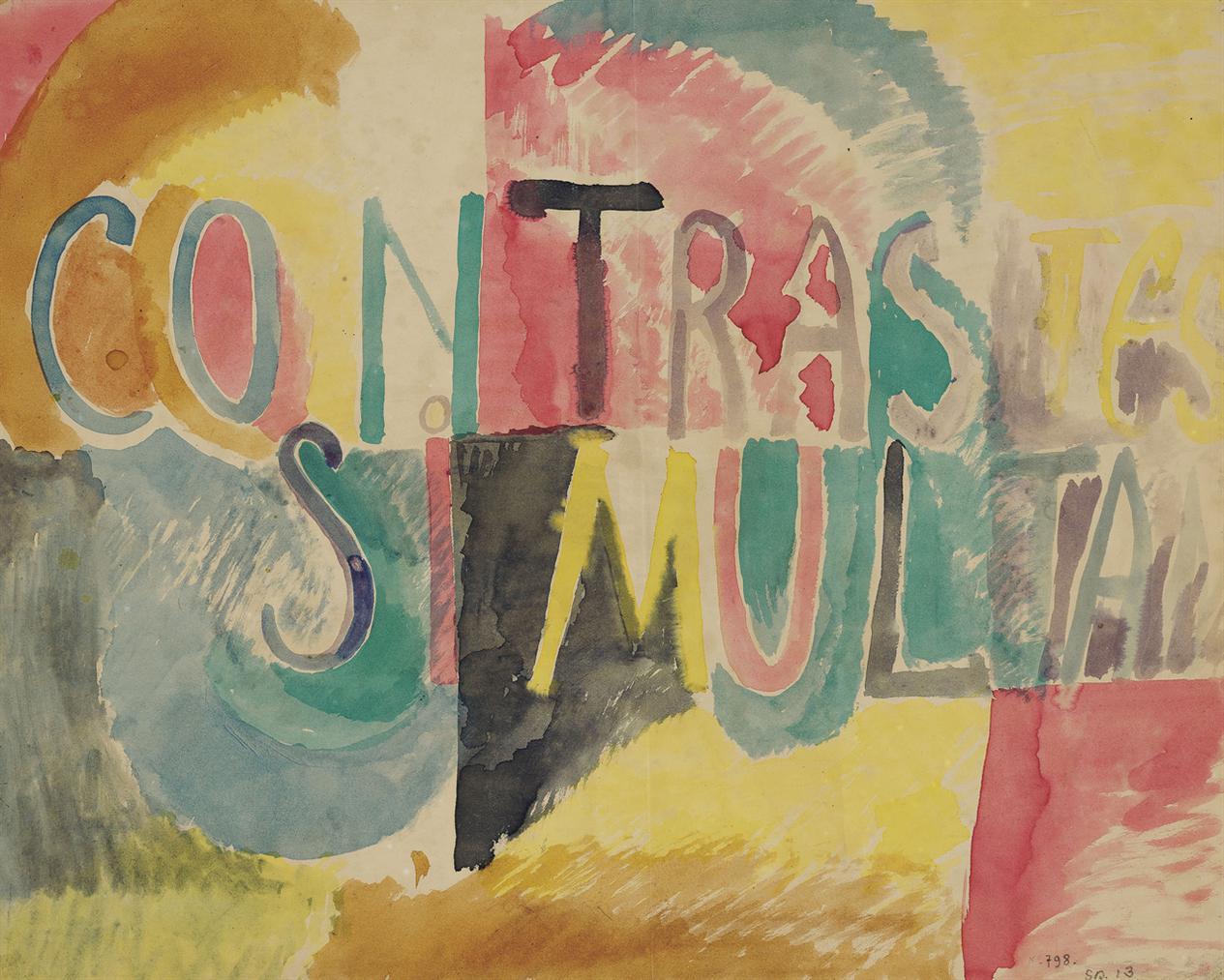 Sonia Delaunay-Contrastes Simultanes-1913