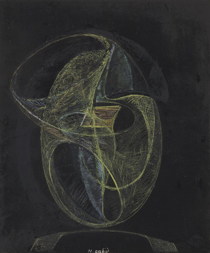 Naum Gabo-Drawing For An Imaginary Construction-1935