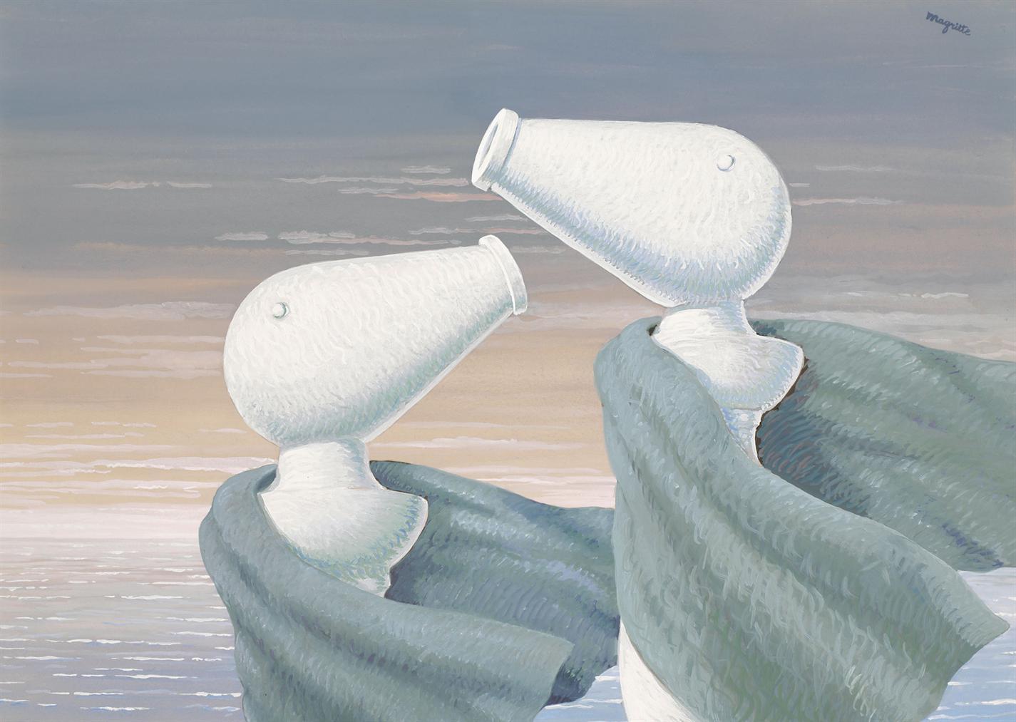 Rene Magritte-Le Colloque Sentimental-1946
