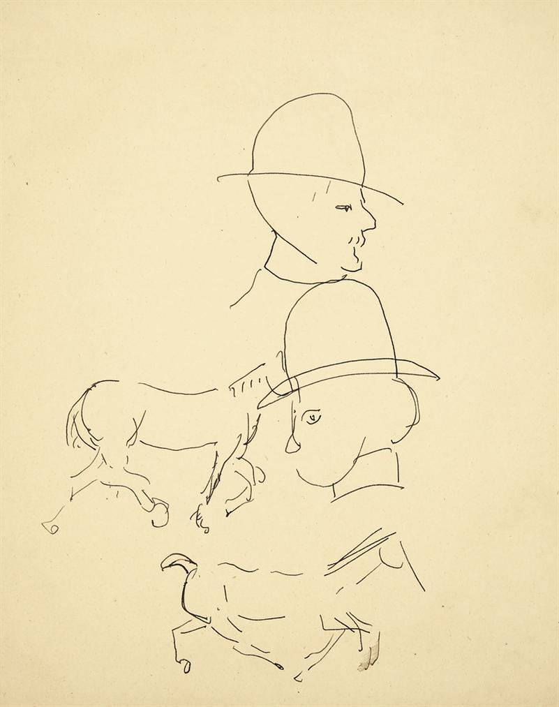 Henri Matisse-Esquisse De Tetes Et Chevaux-1900