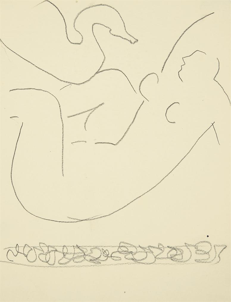 Henri Matisse-Etude (Leda Et Le Cygne)-