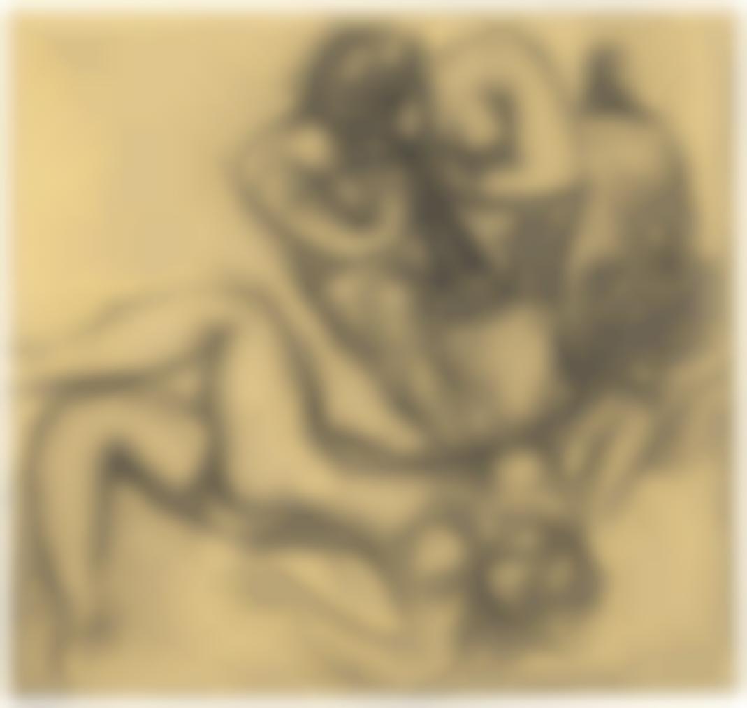 Henri Matisse-Faune Charmant Une Nymphe-1935