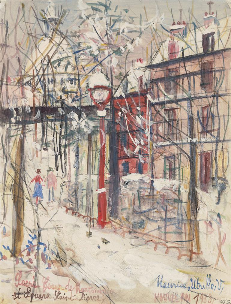 Maurice Utrillo-Sacre-Coeur De Montmartre Et Square Saint-Pierre-1938
