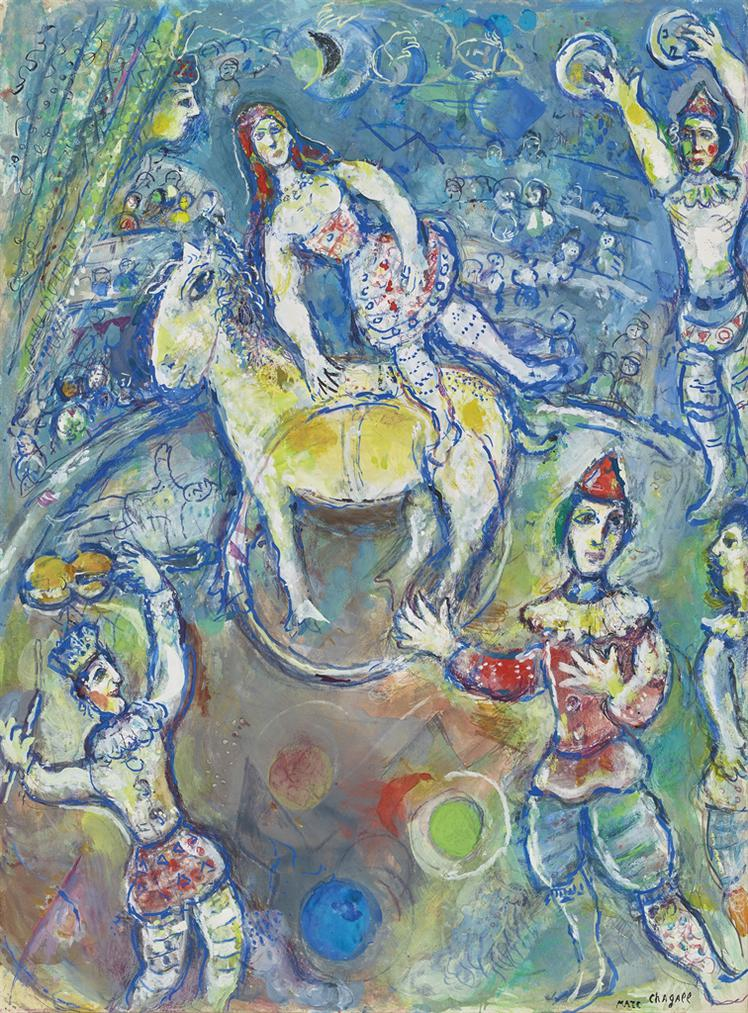 Marc Chagall-Au Cirque-1969