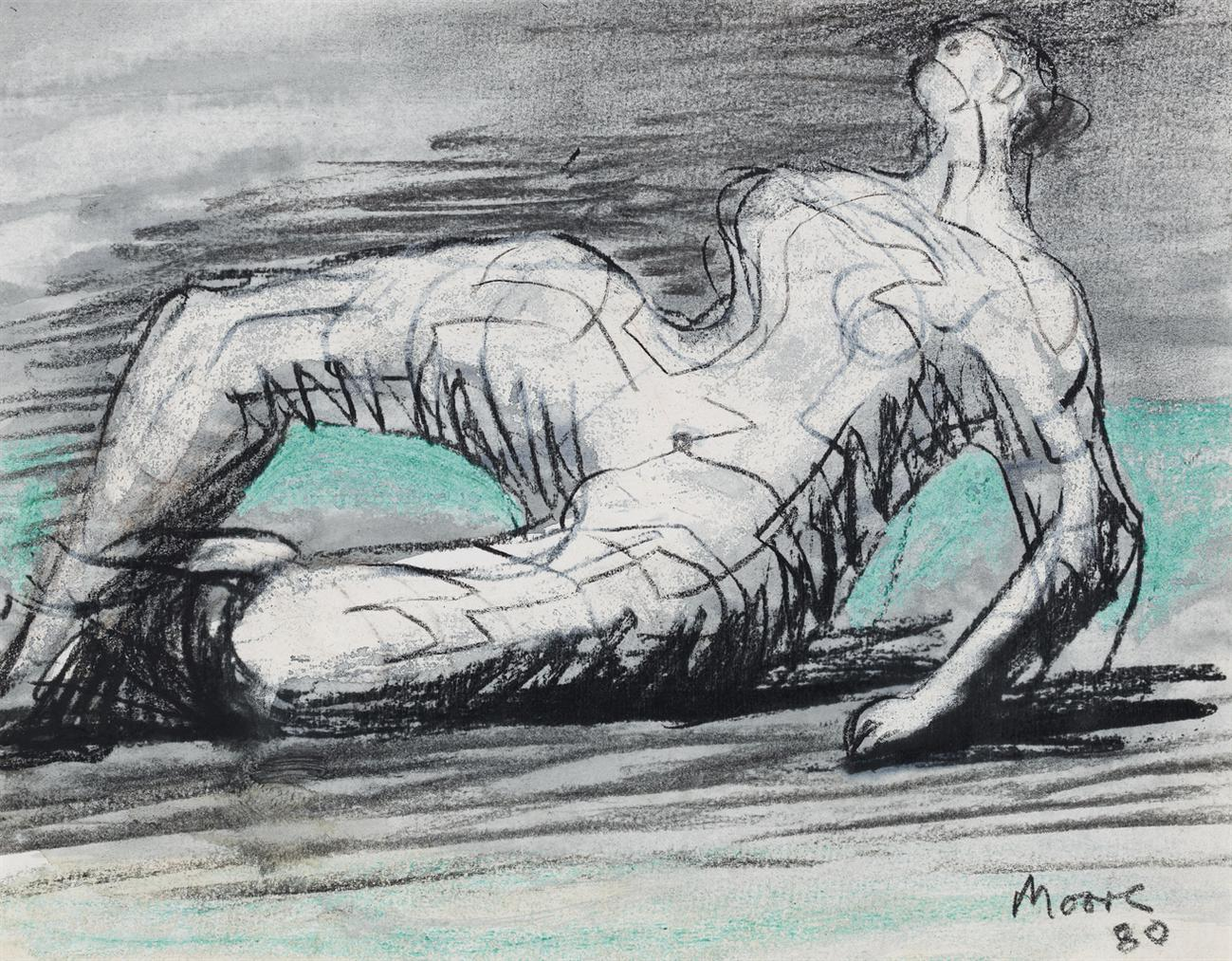 Henry Moore-Reclining Nude-1980