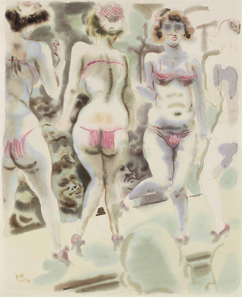 George Grosz-Burlesque Show, New York-1932