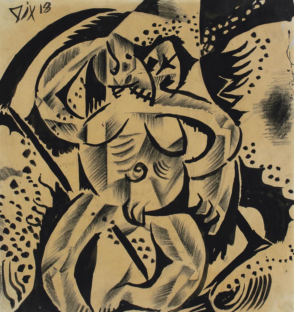 Otto Dix-Weib Und Tod-1918
