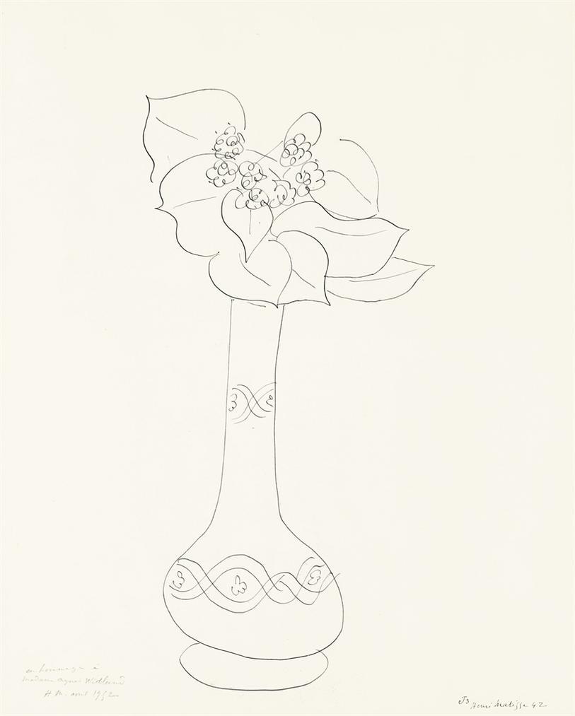 Henri Matisse-Fleur Dans Un Vase (Theme J, Variation 3)-1942