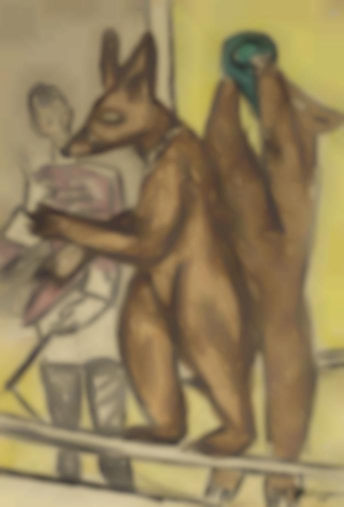 Max Beckmann-Dressierte Baren-1932