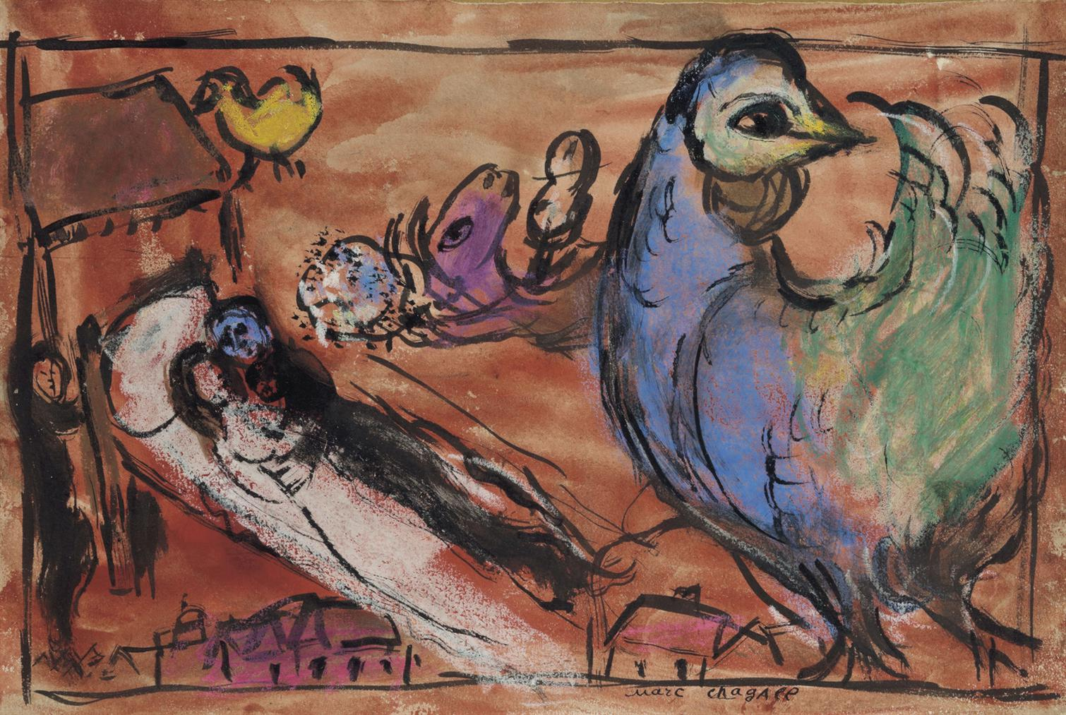 Marc Chagall-Les Maries-1970