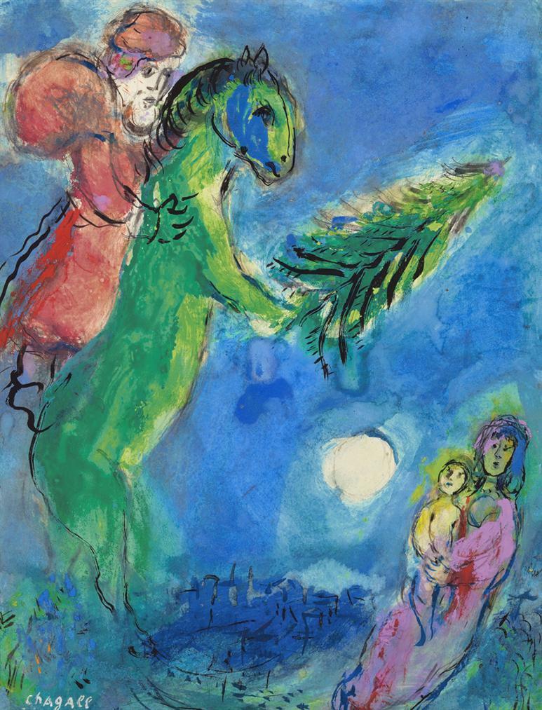 Marc Chagall-Maternite Avec Pere Noel-1954