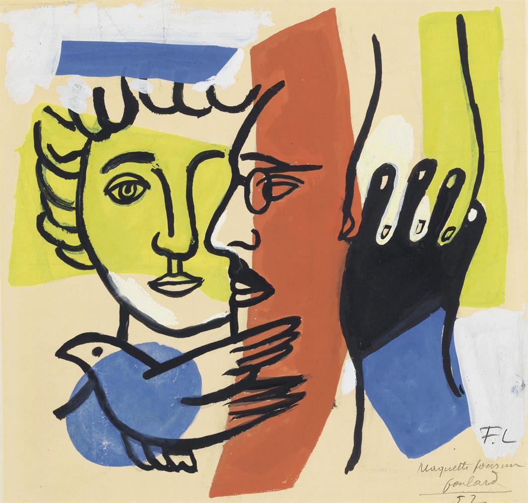 Fernand Leger-Maquette Pour Un Foulard-1952