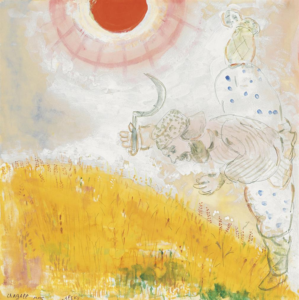 Marc Chagall-Paysan Dans Un Champs De Ble Par Un Apres-Midi Dete (Aleko)-1942