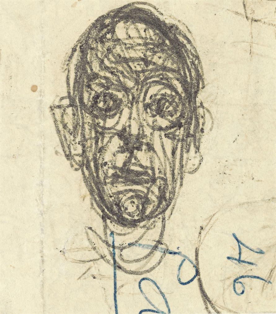 Alberto Giacometti-Tete Et Inscriptions-