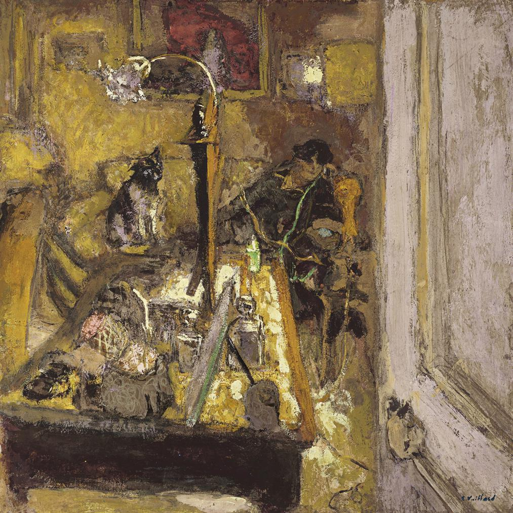 Edouard Vuillard-Madame Hessel Telephonant Dans Son Boudoir-1917