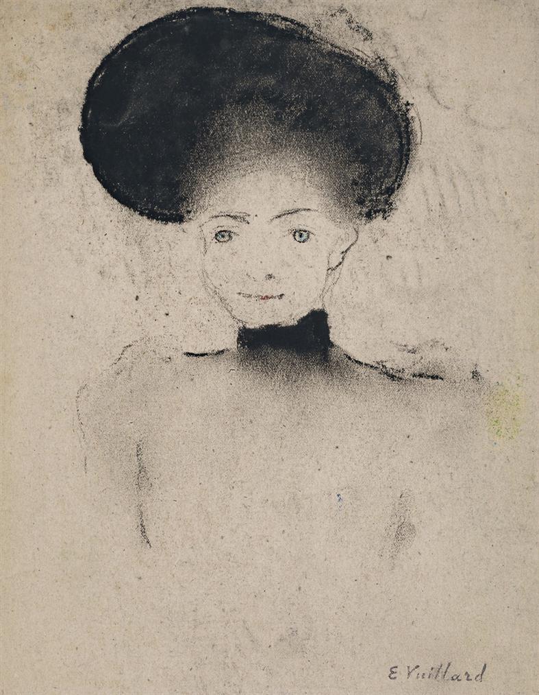 Edouard Vuillard-Femme Au Grand Chapeau-1891