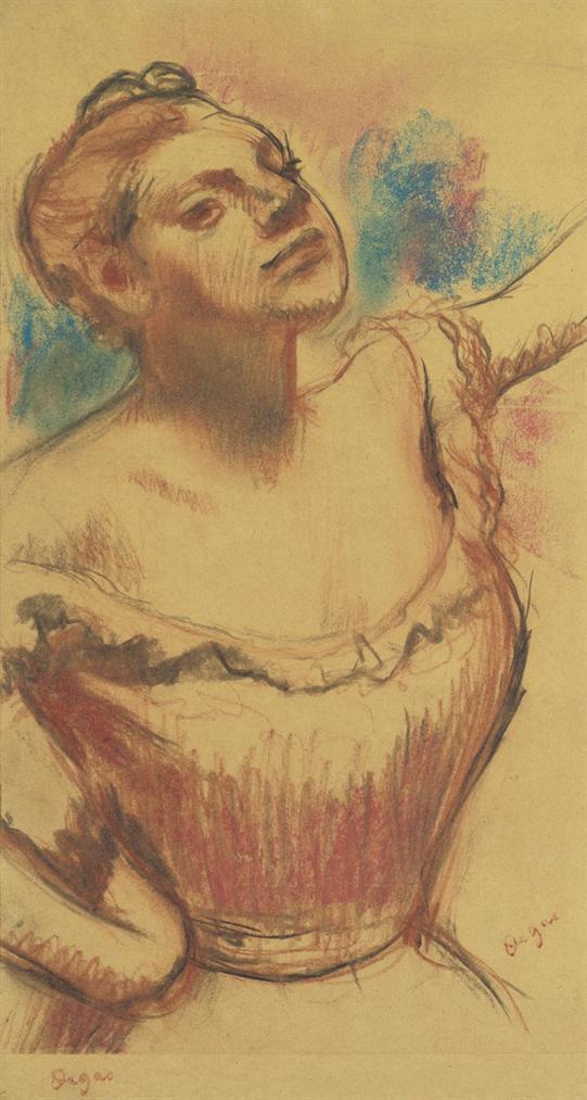 Edgar Degas-Buste De Danseuse Au Corsage Rouge-1899