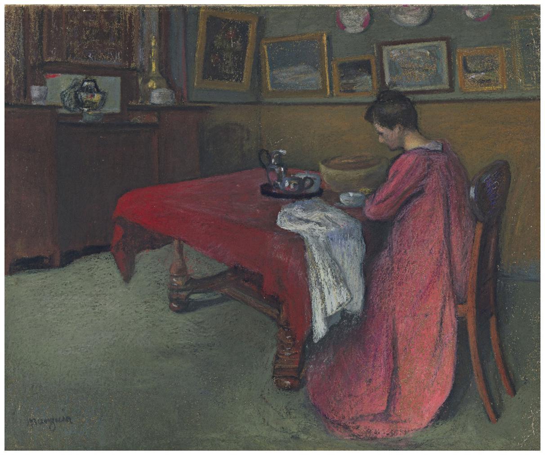 Henri Charles Manguin-La Robe De Chambre Rouge-1902