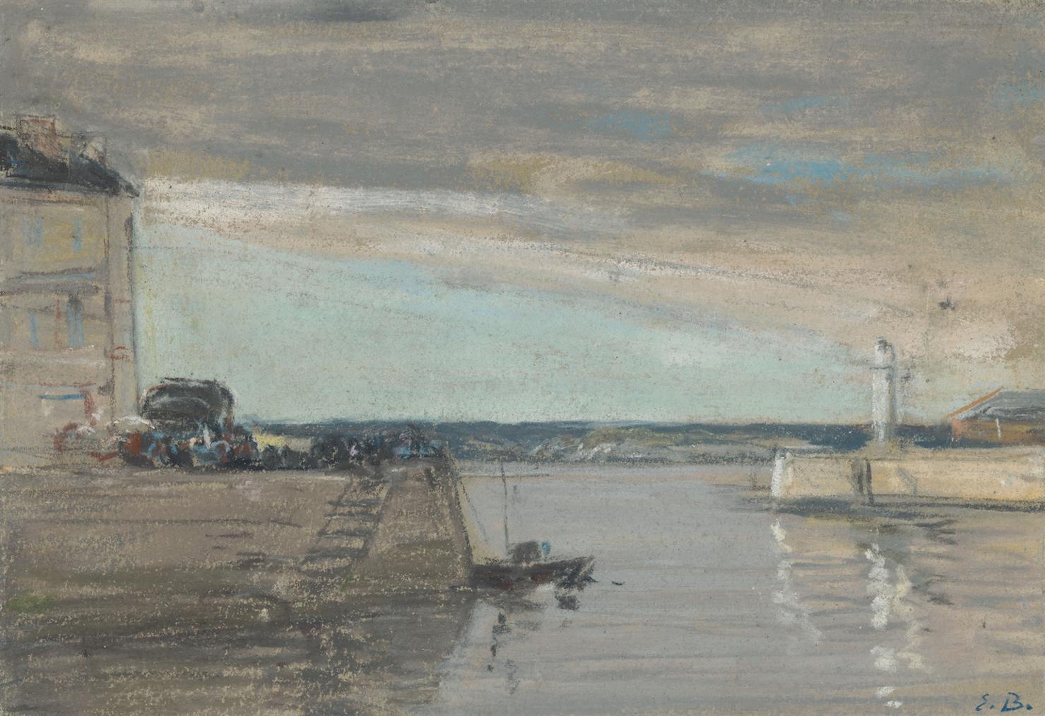 Eugene Louis Boudin-Honfleur, Le Port-1865