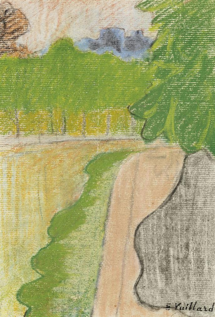 Edouard Vuillard-Paysage De Rue Avec Arbres-1890
