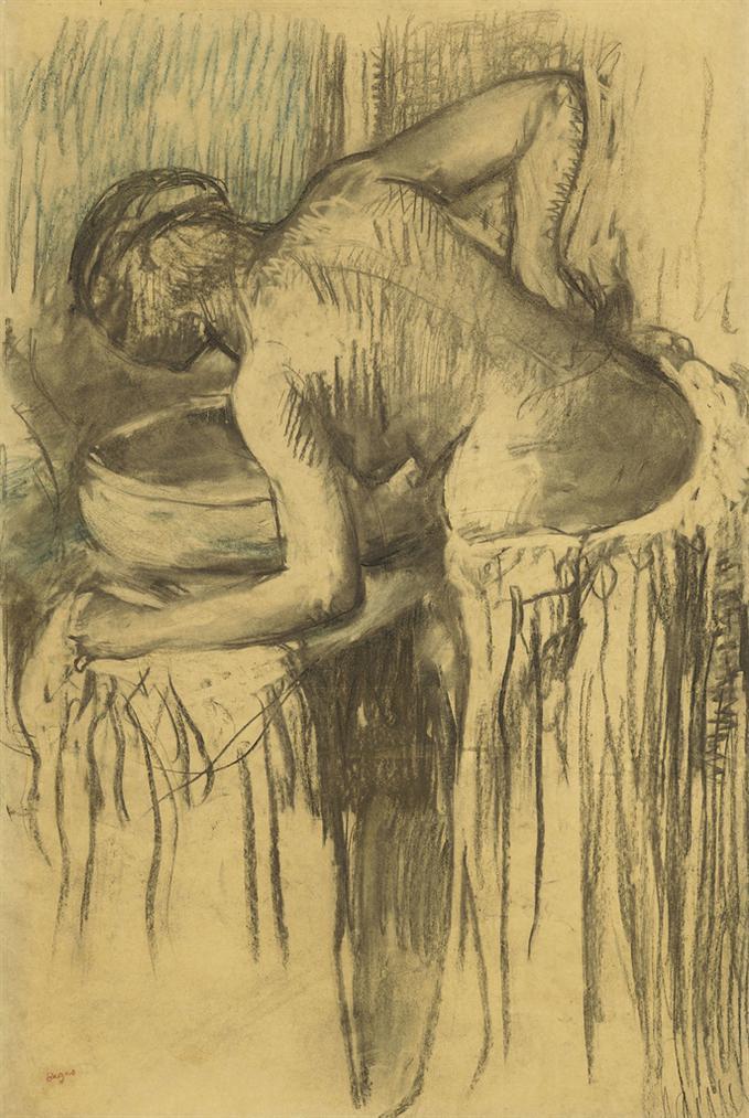 Edgar Degas-Femme A Sa Toilette-1895