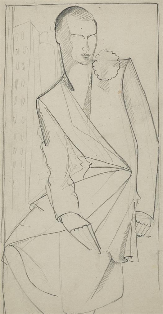 Tamara de Lempicka-Etude Pour Portrait De Madame Bush-1929