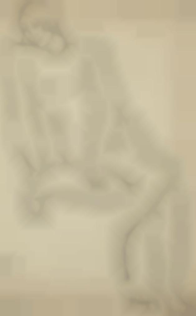 Tamara de Lempicka-Nu Assis Sur Un Coussin-1929