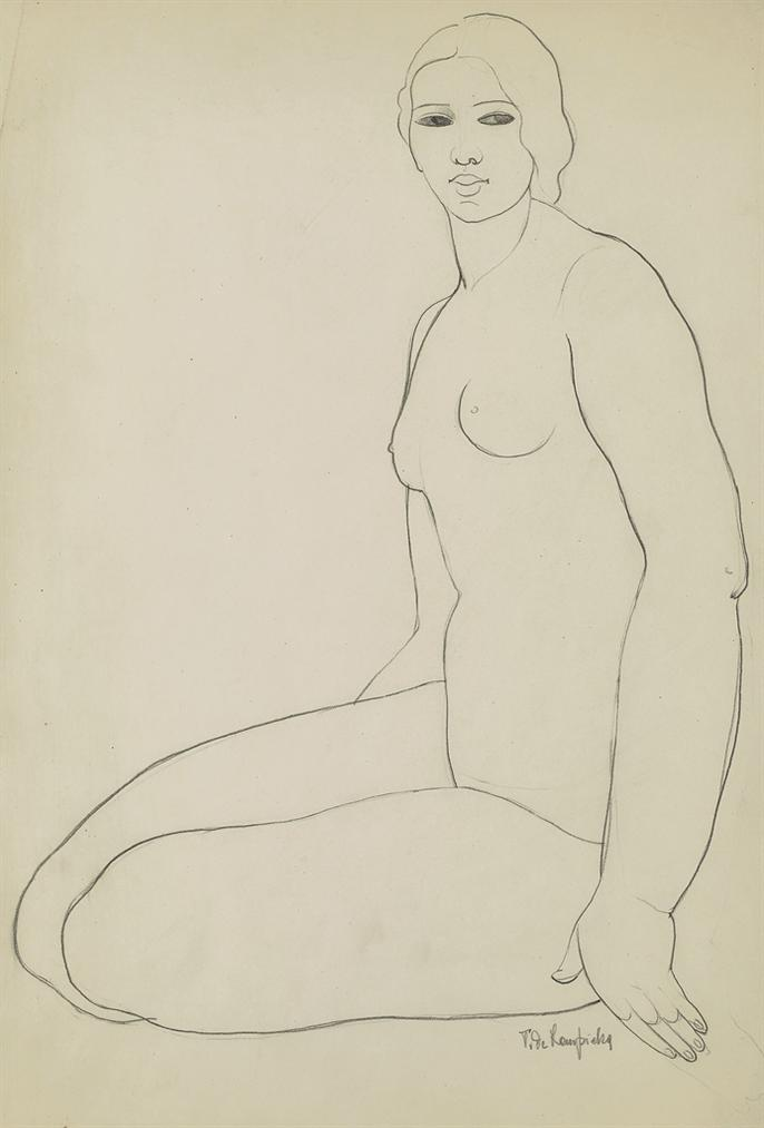 Tamara de Lempicka-Nu Assis-1928