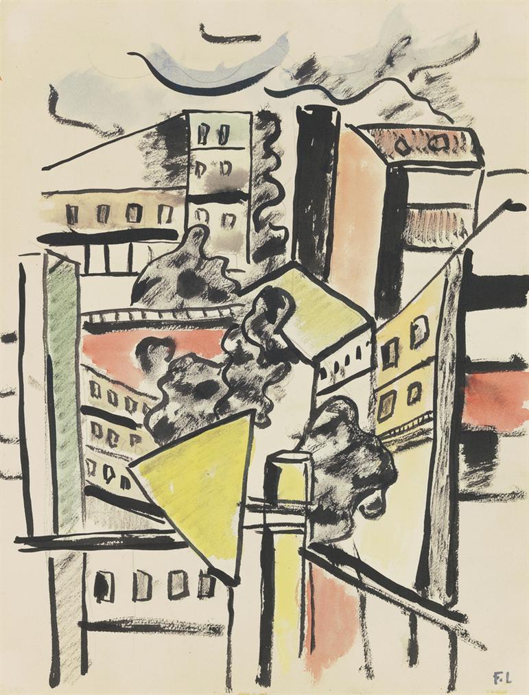 Fernand Leger-Les Toits-1955