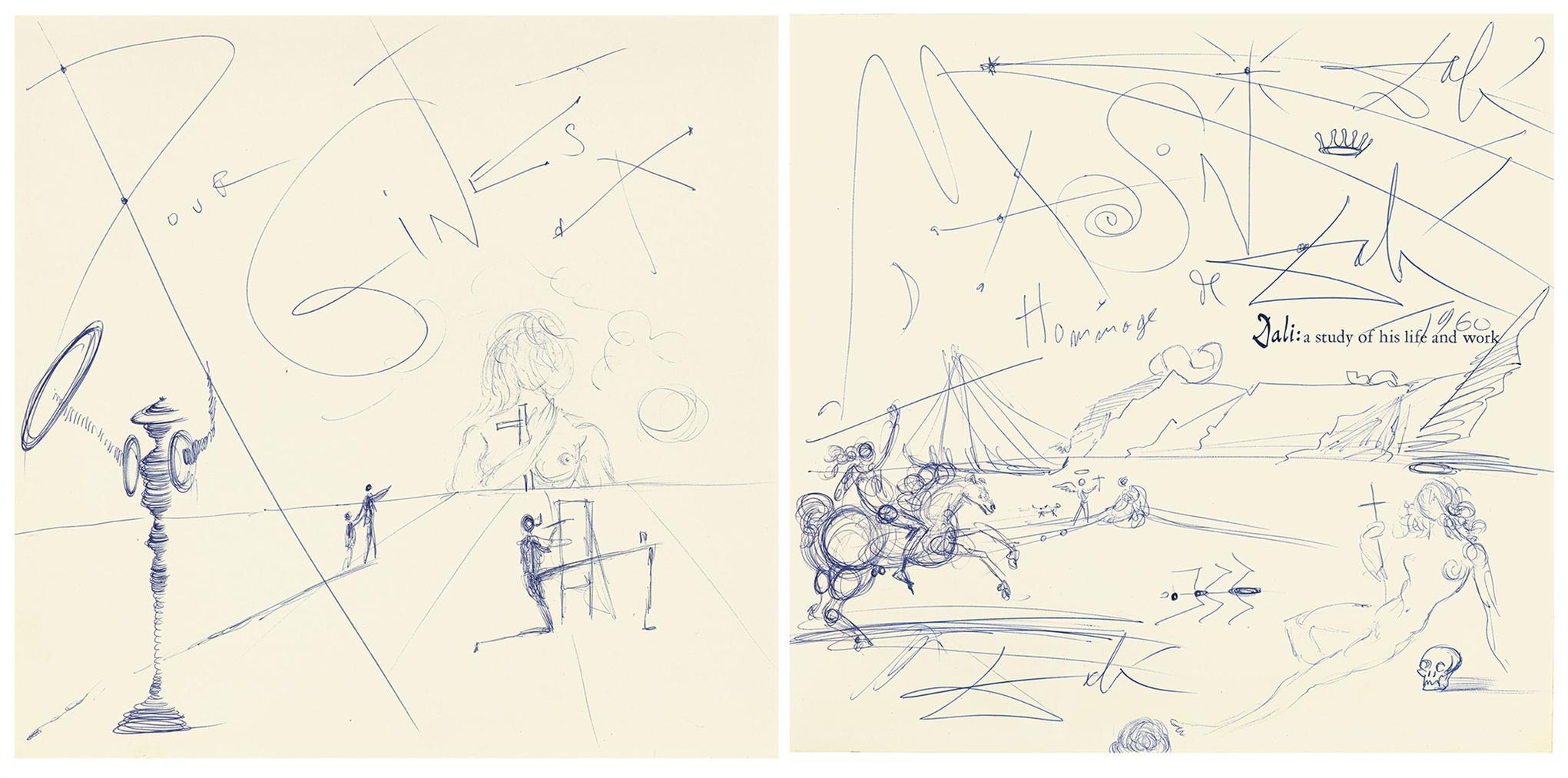 Salvador Dali-Paysage Surrealiste-1960