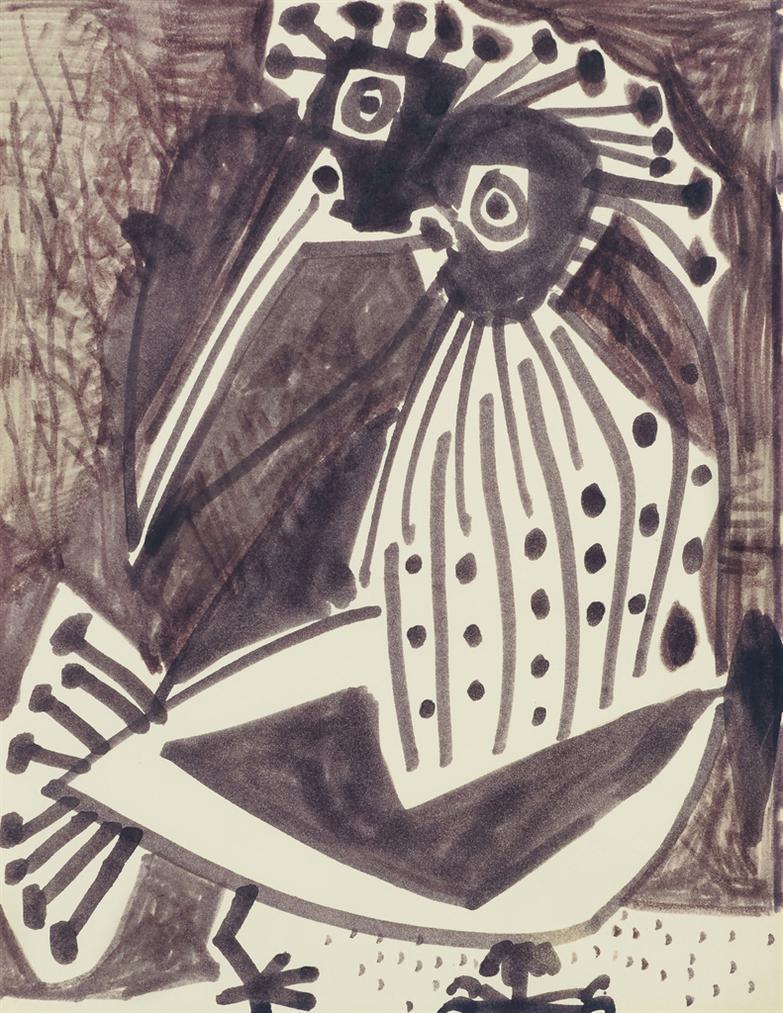 Pablo Picasso-Oiseau Fantastique-1952