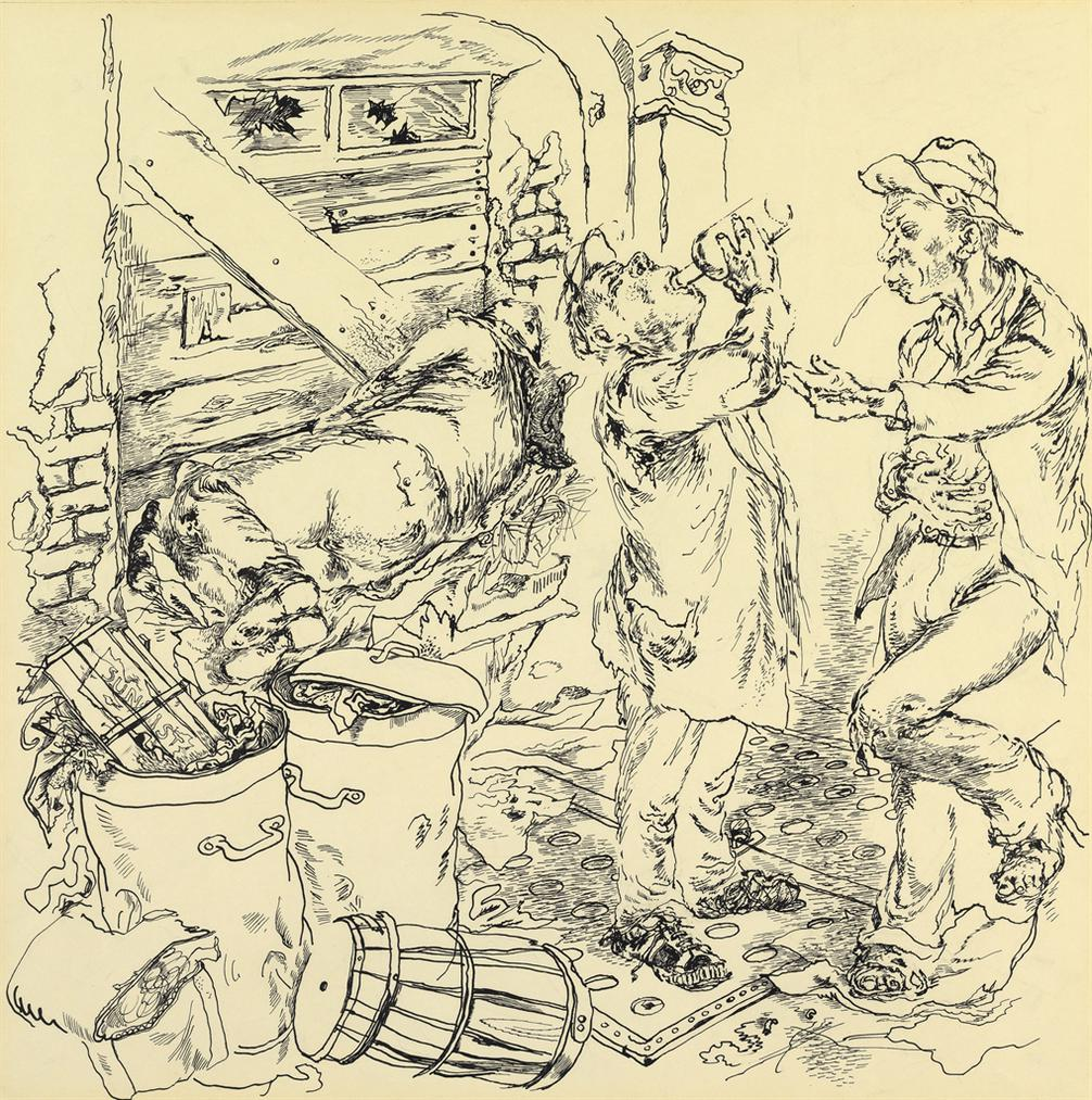 George Grosz-Feast Of The Bums-1941