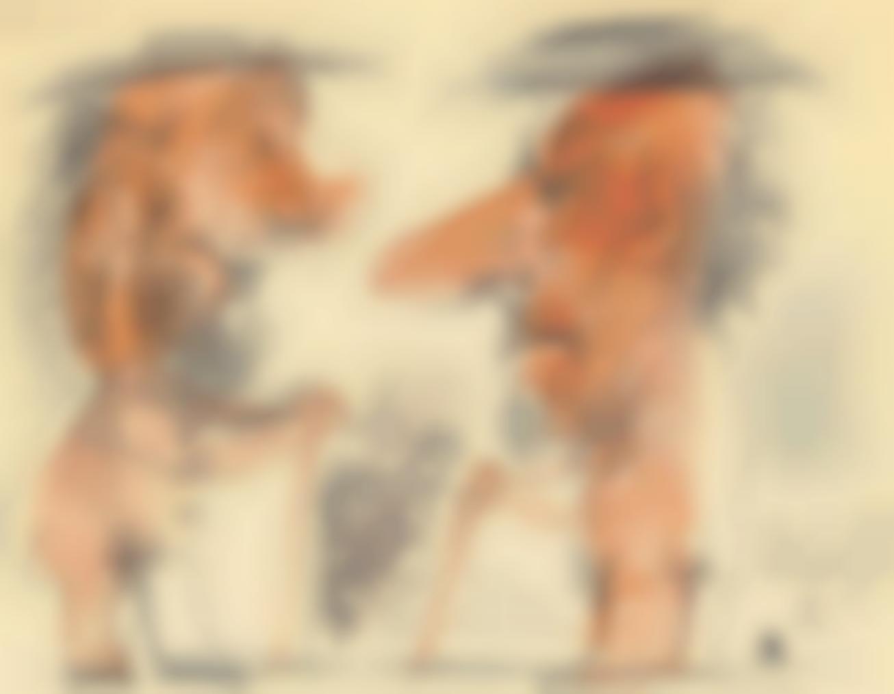 Pablo Picasso-Deux Personnages-1969