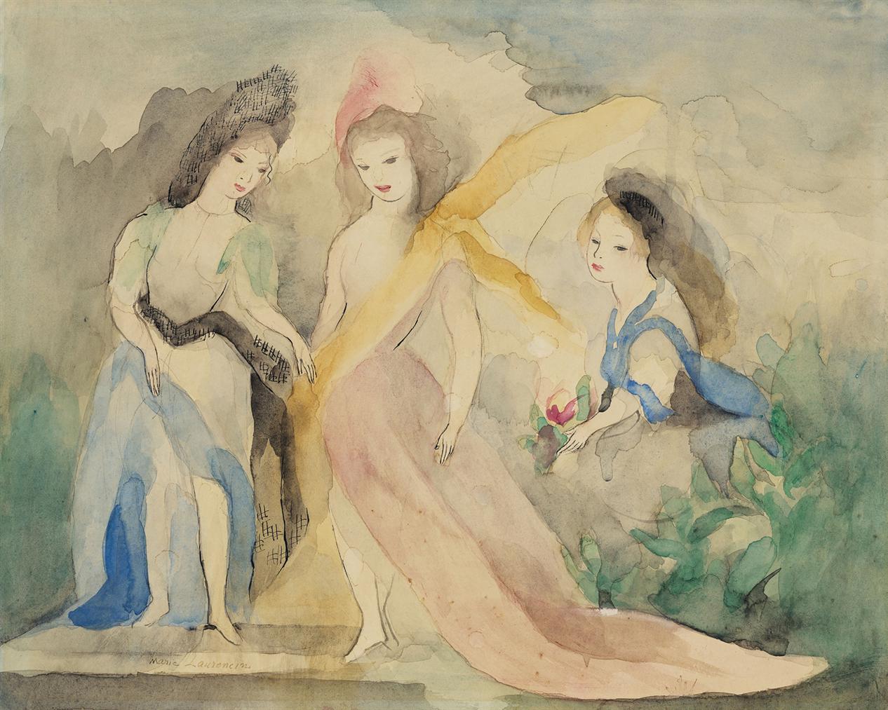 Marie Laurencin-Trois Jeunes Filles-