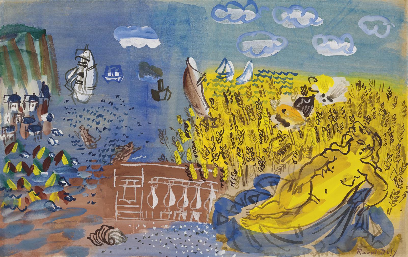 Raoul Dufy-Lete Ou Ceres Au Bord De La Mer-1928