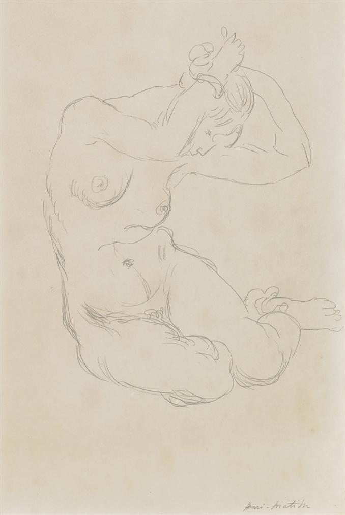 Henri Matisse-Nu Assis-1919