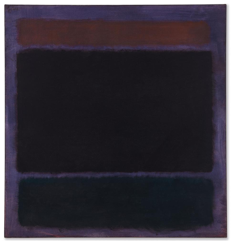 Mark Rothko-Untitled (Rust, Blacks On Plum)-1962