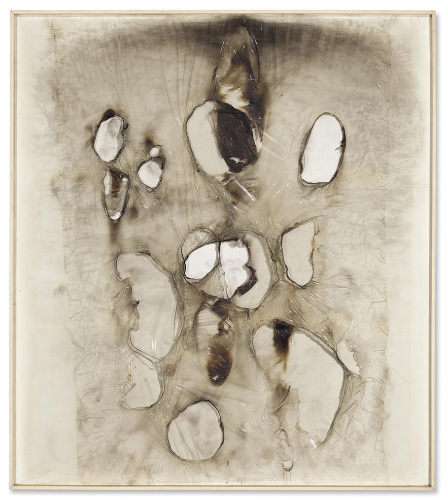 Alberto Burri-Bianco Plastica M 1-1962