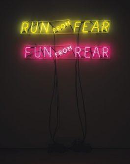 Bruce Nauman-Run From Fear, Fun From Rear-1972