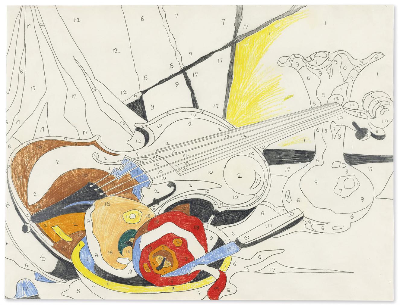 Andy Warhol-Do It Yourself (Violin)-1962