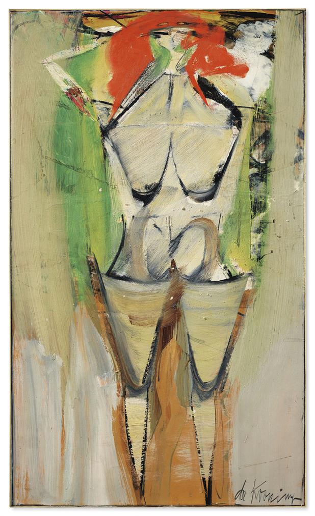 Willem de Kooning-Figure In Landscape I-1951