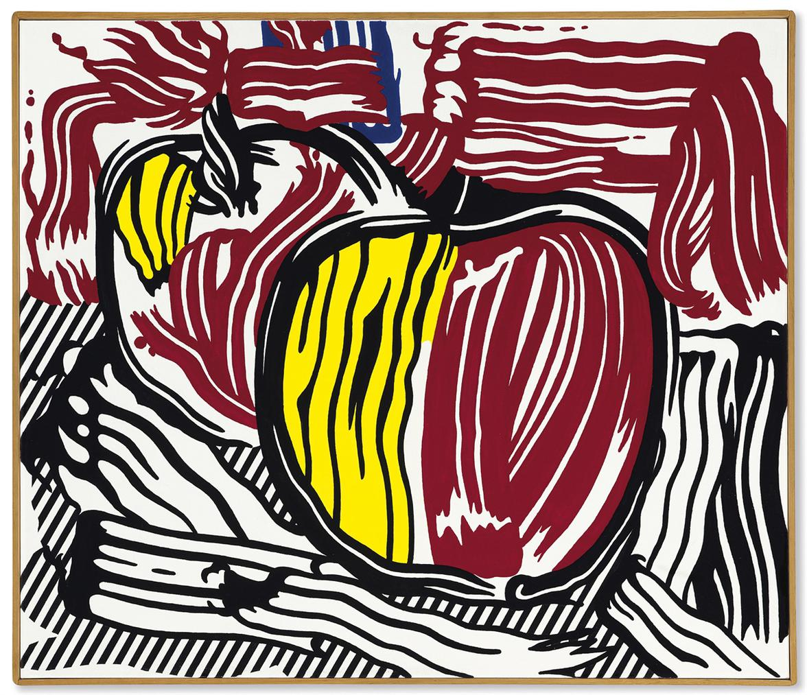 Roy Lichtenstein-Two Red And Yellow Apples-1981