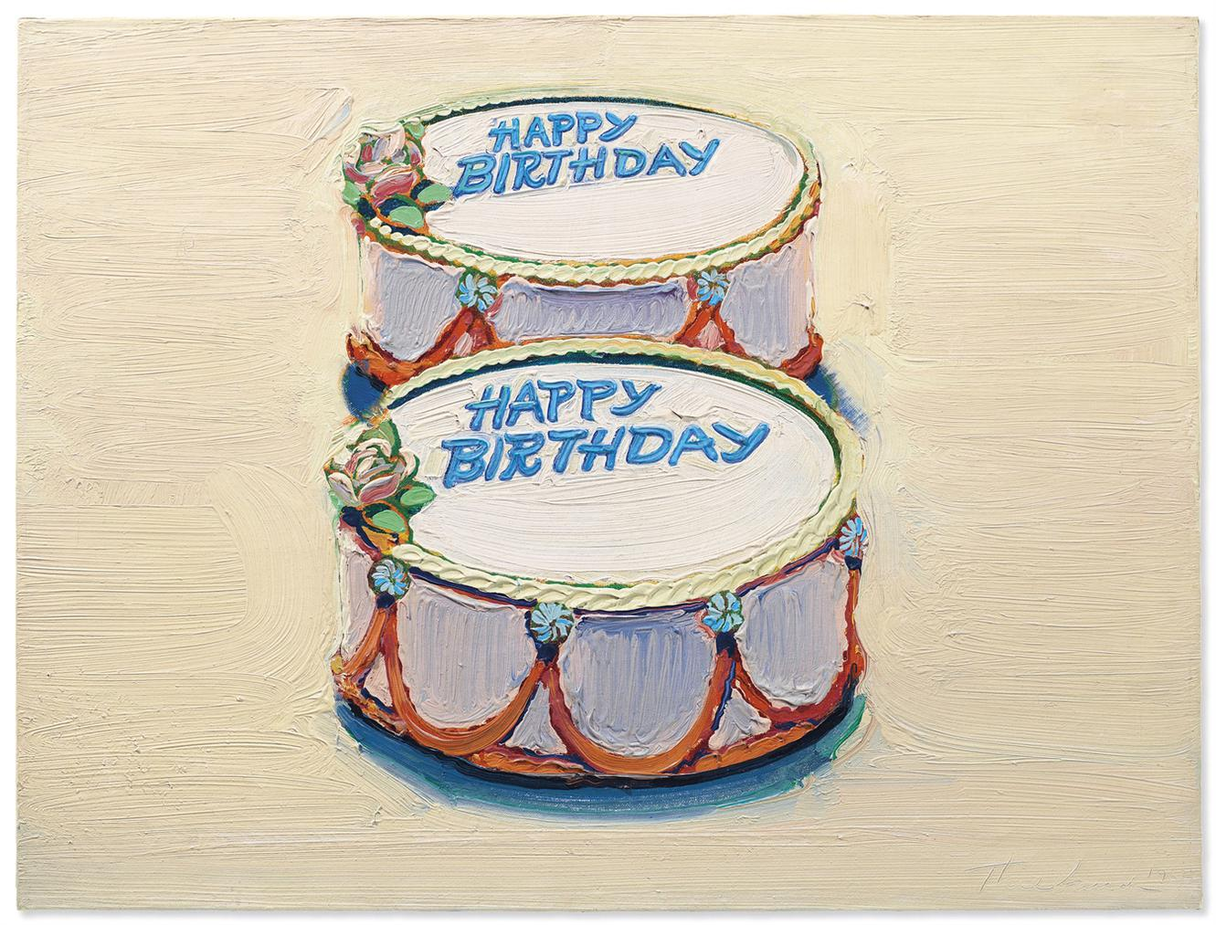 Wayne Thiebaud-Happy Birthday-1962