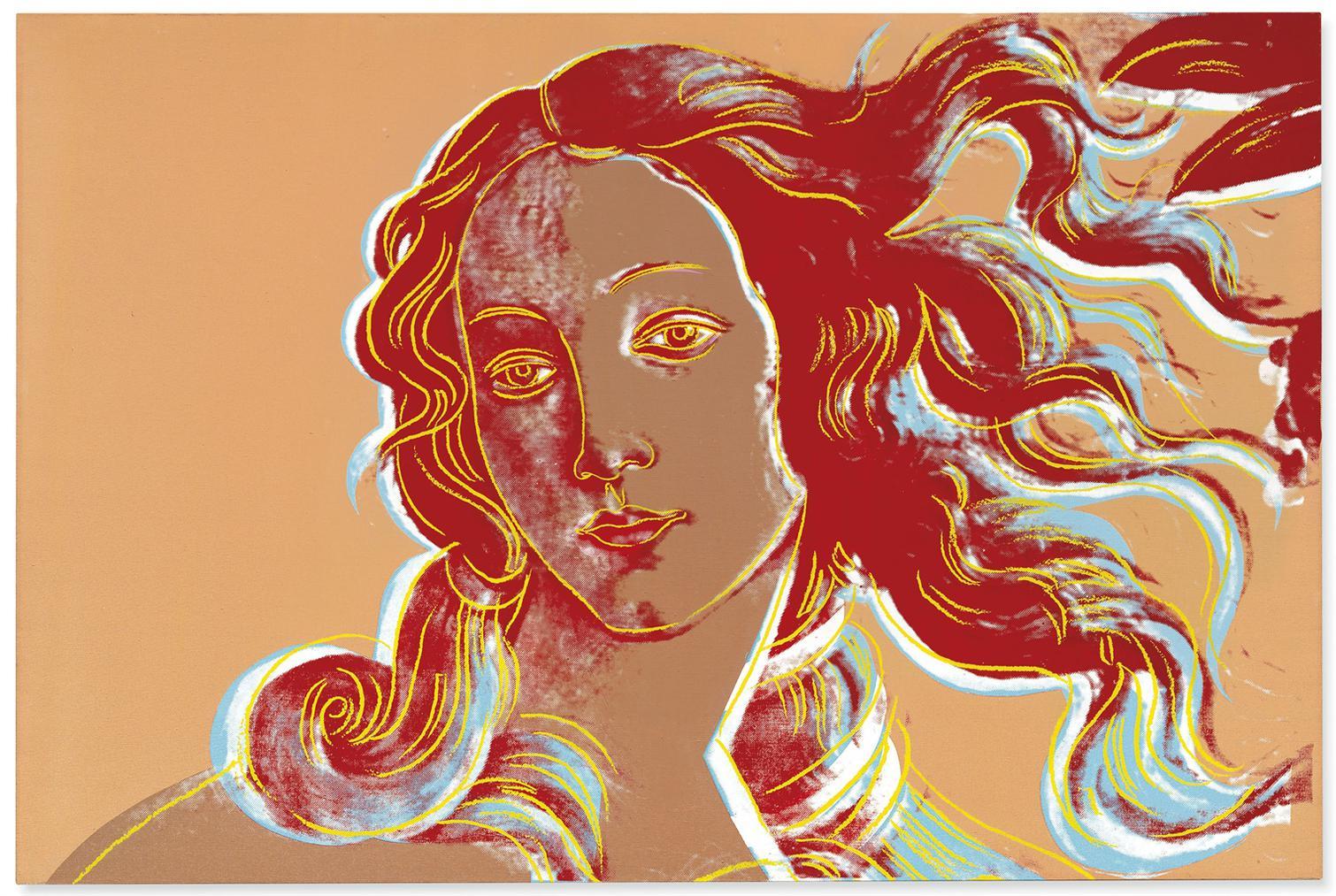 Andy Warhol-Birth Of Venus (After Botticelli)-1984