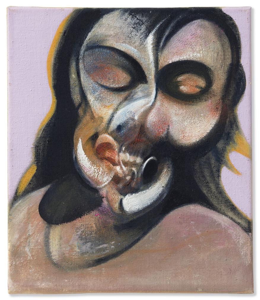 Francis Bacon-Study Of Henrietta Moraes Laughing-1969